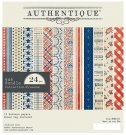 "Authentique 6""x6"" Cardstock Pad - Freedom Bundle (24 sheets)"