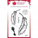 Woodware A7 Clear Stamps - Two Feathers