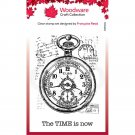 Woodware A7 Clear Stamps - Pocket Watch