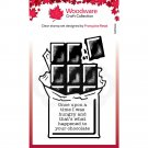 Woodware A7 Clear Stamps - Chocolate