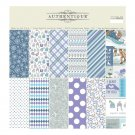 "Authentique 12""x12"" Cardstock Pad - Frosted (18 sheets)"