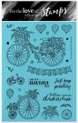 Hunkydory Clear Stamp Set - Beautiful Ride