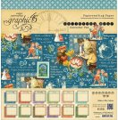 "Graphic 45 - 12"" x 12"" Childrens Hour Calendar Pad (24 sheets)"