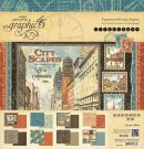 "Graphic 45 - 12"" x 12"" Cityscapes Paper Pad (24 sheets)"