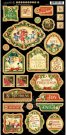 Graphic 45 St Nicholas Chipboard Die-Cuts #1
