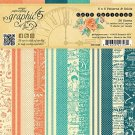 "Graphic 45 - 6"" x 6"" Cafe Parisian Patterns & Solids Paper Pad (36 sheets)"