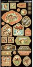 "Graphic 45 - Off To The Races 6""x12"" Chipboard Die-Cut Decorative Sheet"