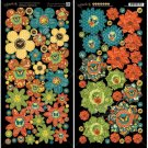 "Graphic 45 Nature Sketchbook 6""x12"" Die-Cut Sheets - Flowers (2 sheets)"