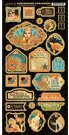 "Graphic 45 - Vintage Hollywood 6""x12"" Chipboard Die-Cut Decorative Sheet"