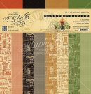 "Graphic 45 - 12""x12"" Master Detective Patterns & Solids Paper Pad (24 sheets)"