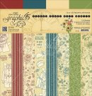 "Graphic 45 - 12""x12"" Penny's Paper Doll Patterns & Solids Paper Pad (16 sheets)"
