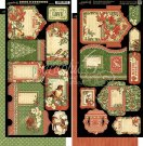 "Graphic 45 Winter Wonderland Cardstock Die-Cuts 6""x12"" Sheets - Tags & pockets (2 sheets)"