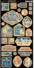 Graphic 45 - Sun Kissed Chipboard Die-Cuts - Decorative & Journaling