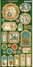 "Graphic 45 - 6""x12"" Chipboard Die-Cuts Sheet Christmas Magic Decorative & Journaling"