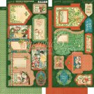 "Graphic 45 - Christmas Magic Cardstock Die-Cuts 6""x12"" Sheets Tags & Pockets (2 pack)"