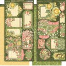 "Graphic 45 - Garden Goddess 6""x12"" Cardstock Tags & Pockets Die-Cut Sheets (2 pack)"