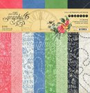 "Graphic 45 - 12"" x 12"" Flutter Patterns & solids Paper Pad (16 sheets)"