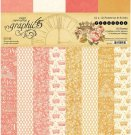"Graphic 45 - 12"" x 12"" Princess Patterns & solids Paper Pad (16 sheets)"