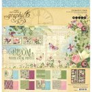 "Graphic 45 - Bloom 12""x12"" Collection Pack (17 sheets)"