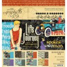 "Graphic 45 - 8""x8"" Life's Journey Collection Pack (24 sheets)"