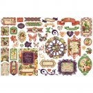 Graphic 45 Fruit & Flora Cardstock Die-Cut Assortment