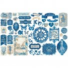 Graphic 45 Ocean Blue Cardstock Die-Cut Assortment