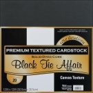Coredinations 12x12 Value Pack Smooth Cardstock - Black Tie Affair (20 sheets)