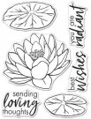 "Hero Arts 3""x4"" Clear Stamps - Hero Florals Lotus"