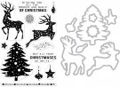 Hero Arts Clear Stamp & Die Combo - Wonder & Magic Of Christmas