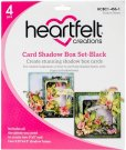 Heartfelt Creations Card Shadow Box Set - Black (4 pack)