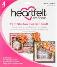 Heartfelt Creations Card Shadow Box Set - Kraft (4 pack)