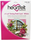 "Heartfelt Creations Circle Card 6""x6"" - Swing Fold White (8 sheets)"