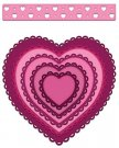 Heartfelt Creations Cut & Emboss Dies - Heartfelt Love Eyelet Hearts