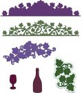 Heartfelt Creations Cut & Emboss Dies - Italiana Grape Clusters