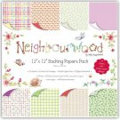 "Neighbourwood 12""x12"" double-sided Paper Pack (24 sheets)"