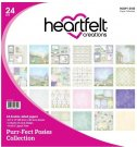 "Heartfelt Creations 12""x12"" Double-Sided Paper Pad - Purr-Fect Posies (24 sheets)"