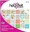 "Heartfelt Creations 12""x12"" Double-Sided Paper Pad - Candy Cane Cottage (24 sheets)"