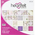"Heartfelt Creations 12""x12"" Double-Sided Paper Pad - Wild Aster (24 sheets)"