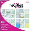 "Heartfelt Creations 12""x12"" Double-Sided Paper Pad - Cottage Garden (24 sheets)"