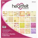 "Heartfelt Creations 12""x12"" Double-Sided Paper Pad - Summer's Garden (24 sheets)"