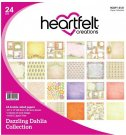 "Heartfelt Creations 12""x12"" Double-Sided Paper Pad - Dazzling Dahlia (24 sheets)"