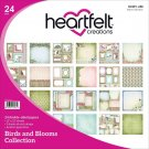 "Heartfelt Creations 12""x12"" Double-Sided Paper Pad - Birds & Blooms (24 sheets)"