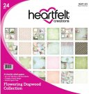 "Heartfelt Creations 12""x12"" Double-Sided Paper Pad - Flowering Dogwood (24 sheets)"