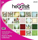 "vHeartfelt Creations 12""x12"" Double-Sided Paper Pad - Festive Holly (24 sheets)"
