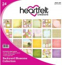 "Heartfelt Creations 12""x12"" Double-Sided Paper Pad - Backyard Blossoms (24 sheets)"