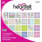 "Heartfelt Creations 12""x12"" Double-Sided Paper Pad - Patchwork Daisy (24 sheets)"