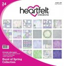 Heartfelt Creations 12x12 Double-Sided Paper Pad - Burst Of Spring (24 sheets)