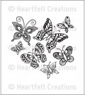 Heartfelt Creations - Butterfly Medley Pre-Cut Cling Mounted Stamp Set (1 stamp)