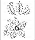 Heartfelt Creations - Large Sparkling Poinsettia Pre-Cut Cling Mounted Stamp Set