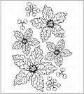 Heartfelt Creations - Sparkling Poinsettia Pre-Cut Cling Mounted Stamp Set
